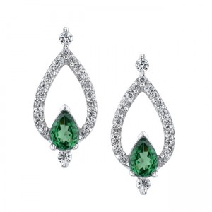 Diamond drop earrings are a classic way to show your love.