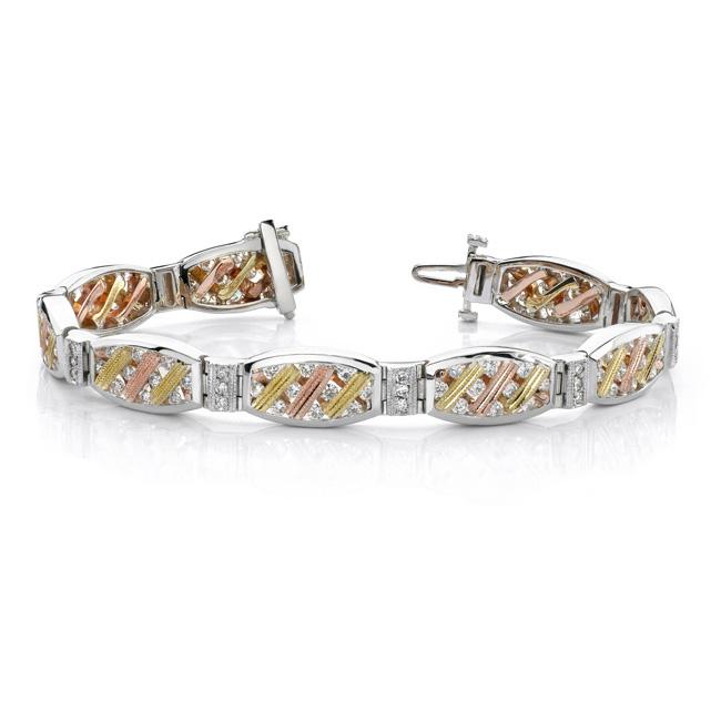 Tri Color Diamond Bracelet - 6910B
