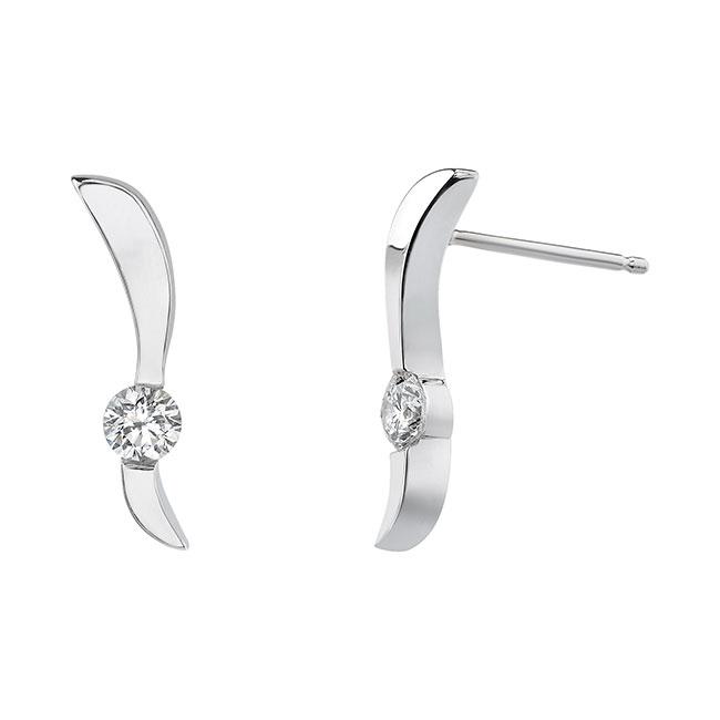 White Gold Diamond Earrings 5191ER
