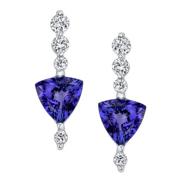 Tanzanite & Diamond Earrings 6703ER