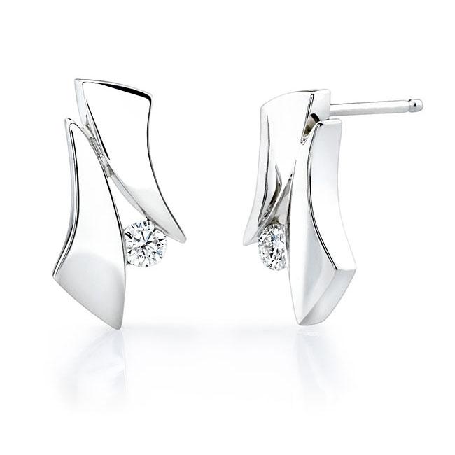 White Gold Diamond Earrings 6839ER