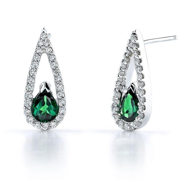 Tsavorite and Diamond Earrings 6993ER