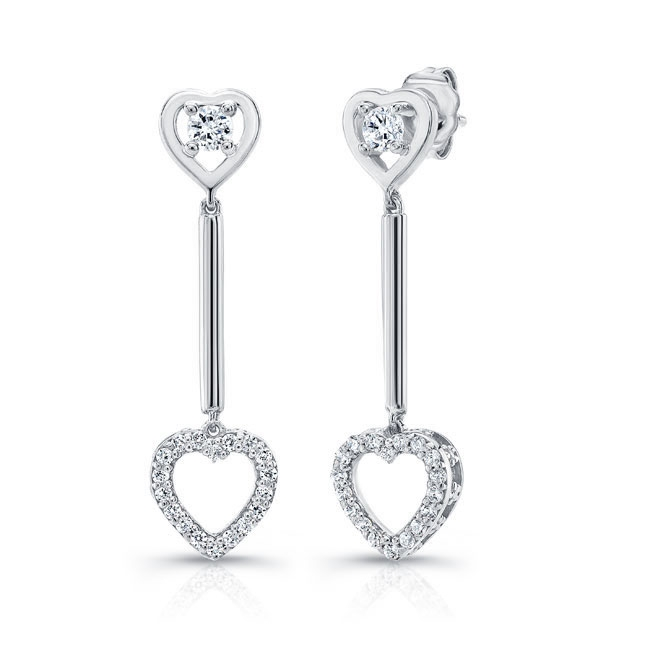 Heart Shape Diamond Earrings 8102ER