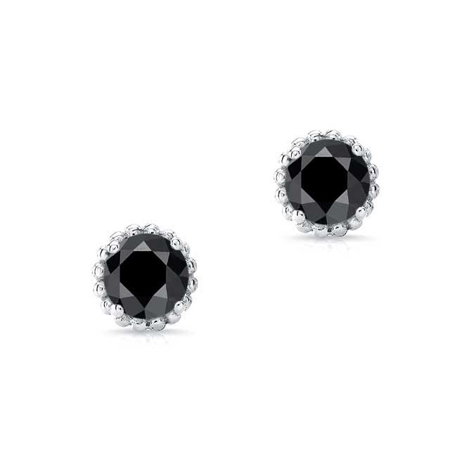 1.00ct. Black Diamond Studs BK-8097ER100