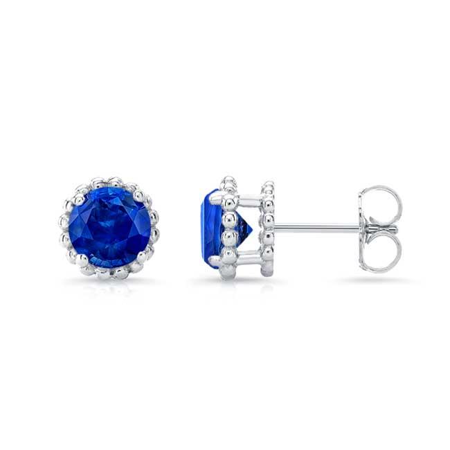 1.00ct. Blue Sapphire Studs BS-8097ER100 Image 2