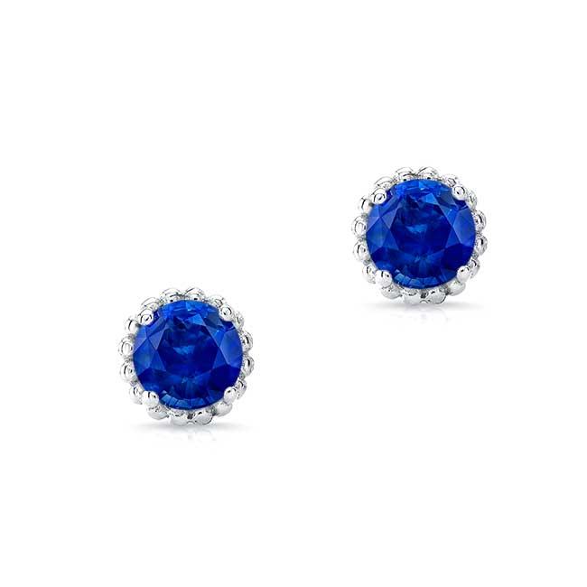 1.00ct. Blue Sapphire Studs BS-8097ER100 Image 1