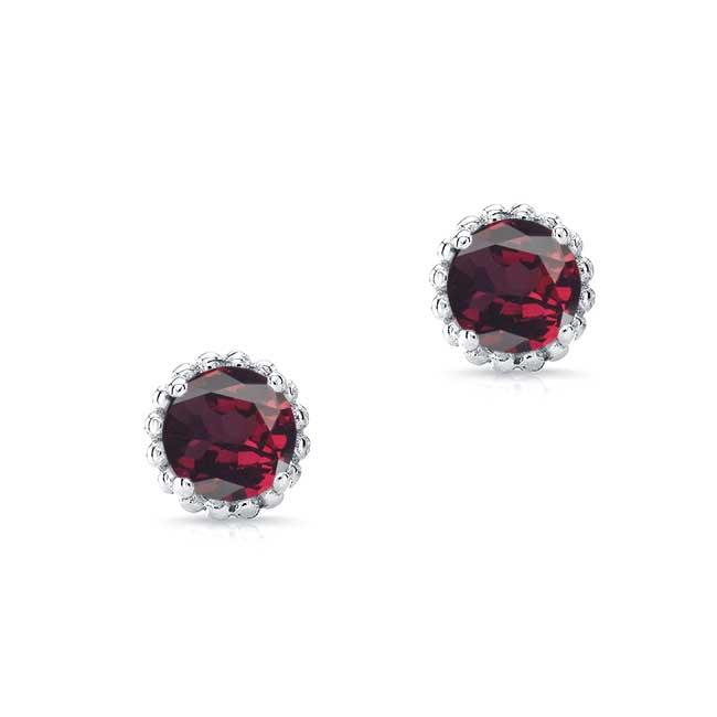 1.00ct. Garnet Studs GR-8097ER100 Image 1