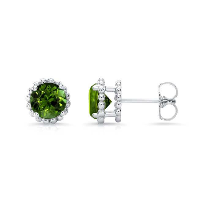 1.00ct. Green Tourmaline Studs GT-8097ER100 Image 2