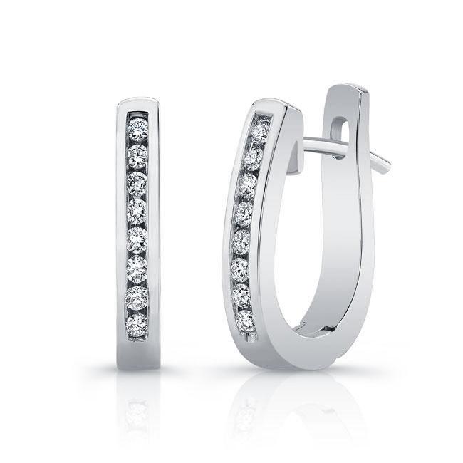 Diamond Hoop Earrings M2000ER
