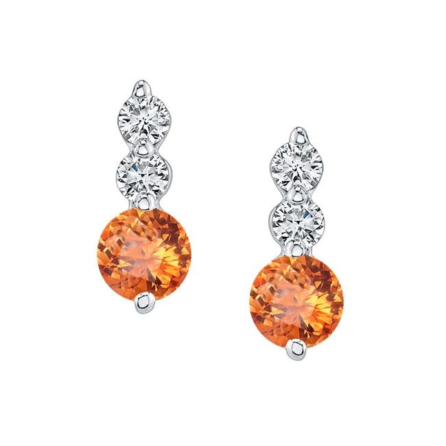 White Gold Citrine & Diamond Earrings MC-5593ER
