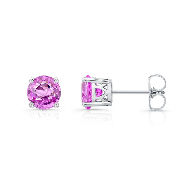 1.00ct. Pink Sapphire Studs PS-8094ER100 Image 2
