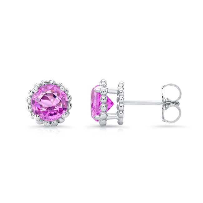 1.00ct. Pink Sapphire Studs PS-8097ER100 Image 2