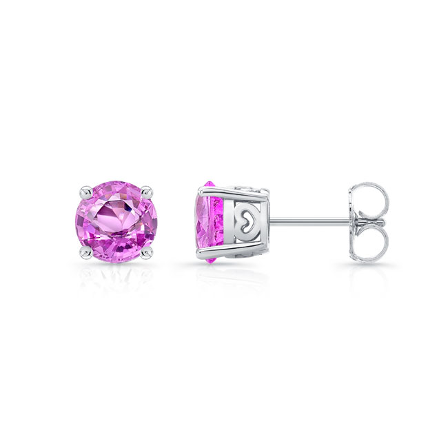 1.00ct. Pink Sapphire Studs PS-8098ER100 Image 2