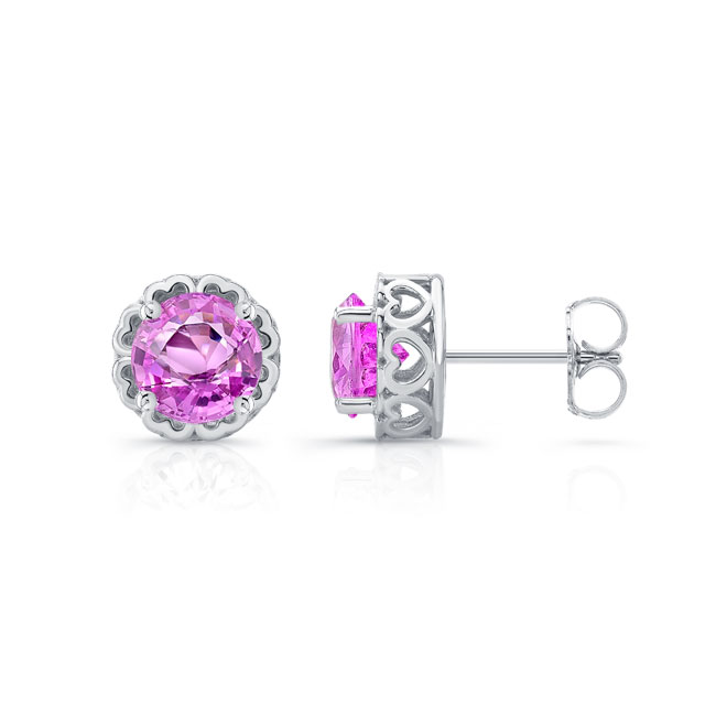 1.00ct. Pink Sapphire Studs PS-8099ER100 Image 2