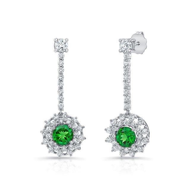 Tsavorite & Diamond Drop Earrings TS-8104ER