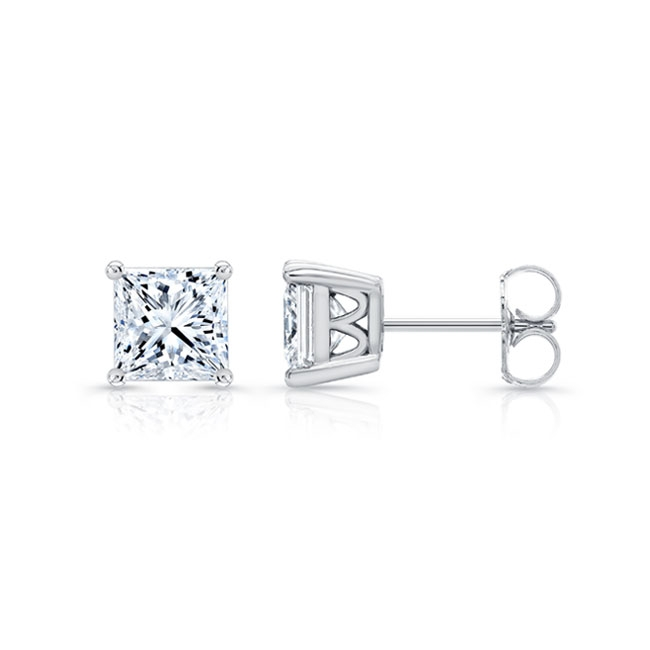0.50ct. Princess Cut Diamond Studs 8095ER50