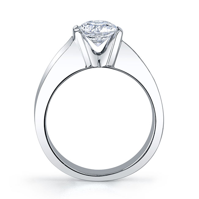 Round Solitaire Engagement Ring 4451L Image 2