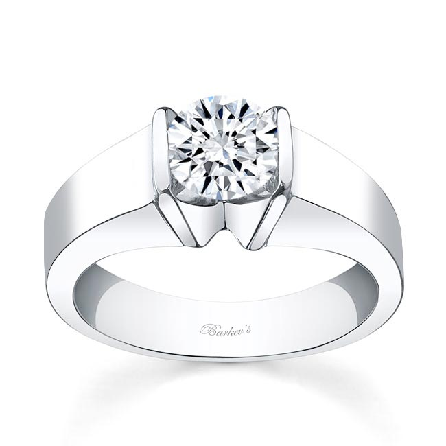 Round Solitaire Engagement Ring 4451L Image 1