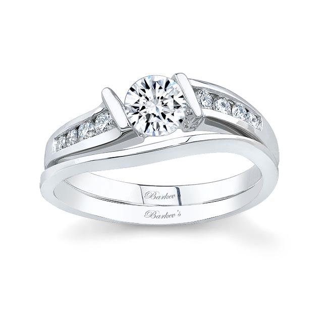 White gold diamond engagement ring set 5803S