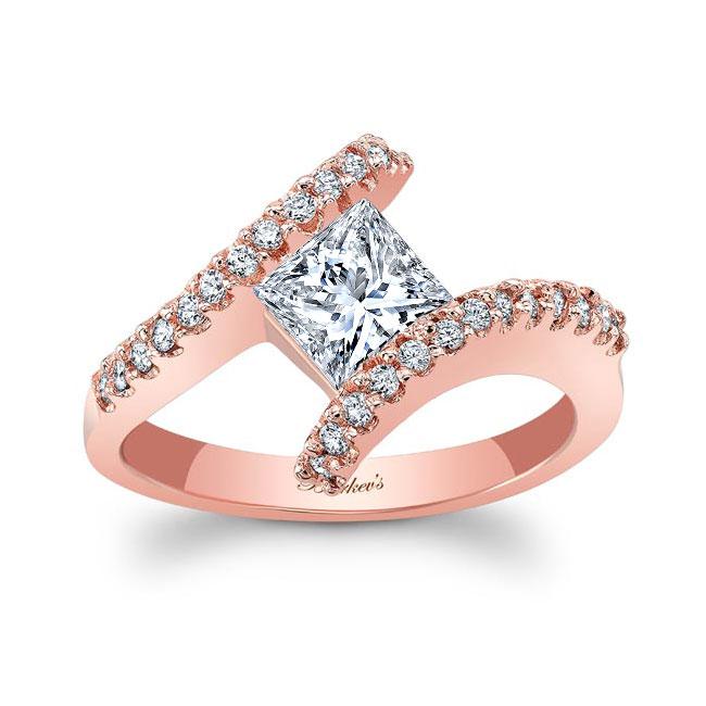 Princess Cut Moissanite Engagement Ring MOI-5921L