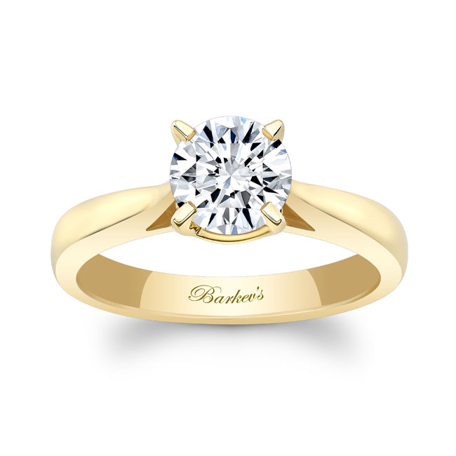 Moissanite Solitaire Engagement Ring MOI-5990L Image 1