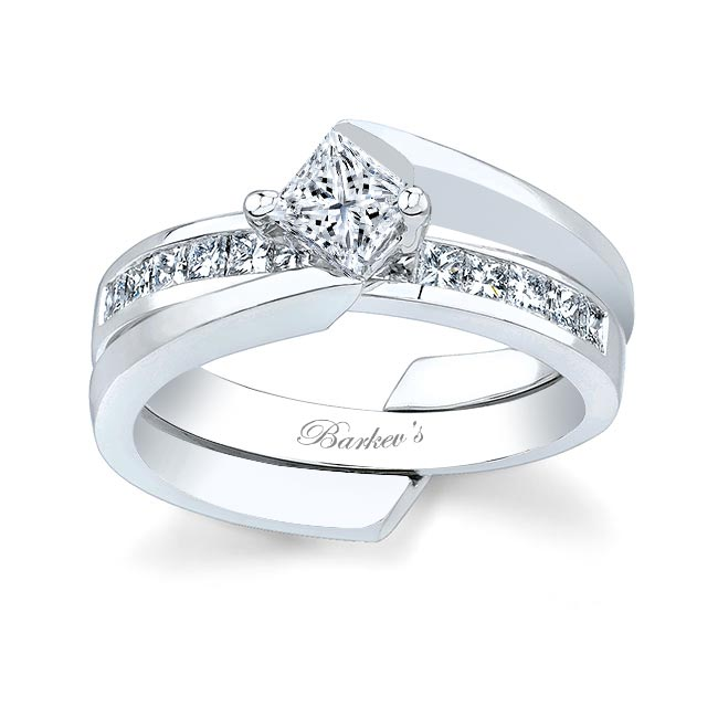 White gold diamond engagement ring set 6029S