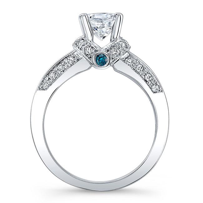 Blue Diamond Engagement Ring 6452LBD Image 2