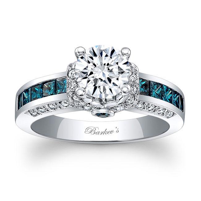 Blue Diamond Engagement Ring 6452LBD Image 1