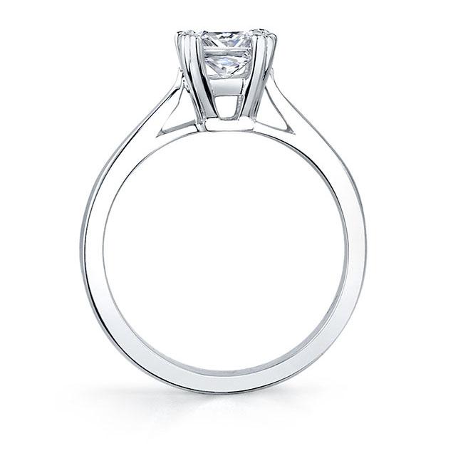 Princess Cut Solitaire engagement Ring 6660L Image 2