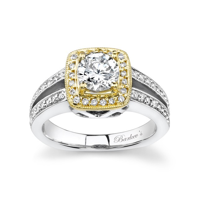 Two Tone Engagement Ring 6978L Image 1