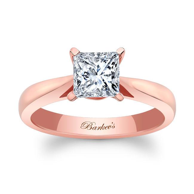 Princess Cut Moissanite Solitaire Engagement Ring MOI-7062L