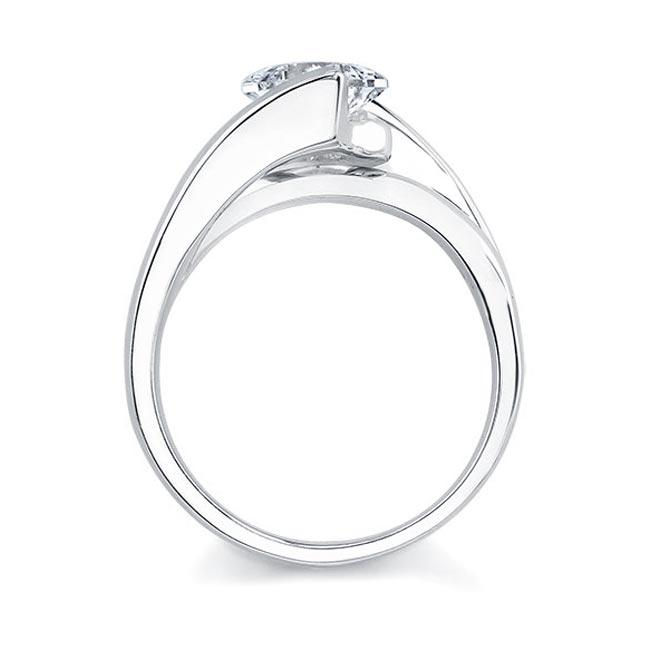 Princess Cut Solitaire engagement Ring 7087L Image 2