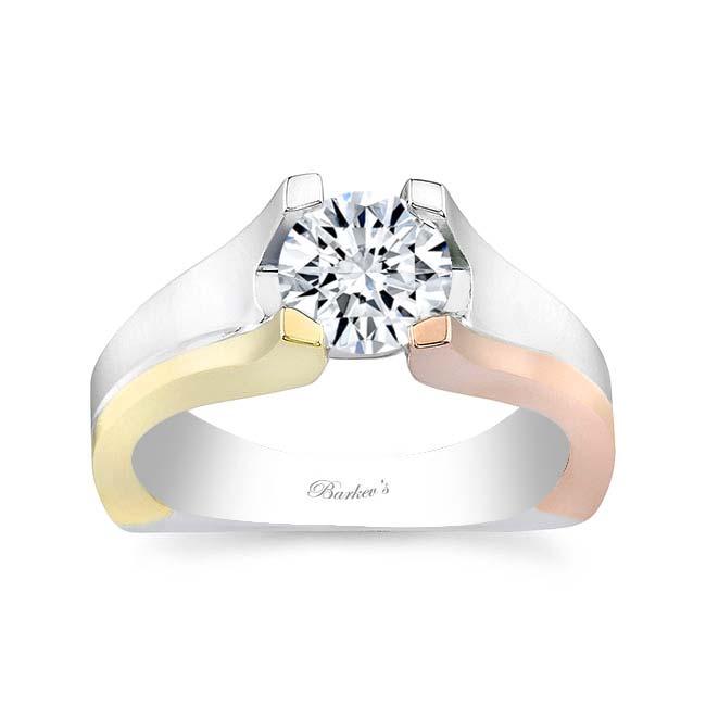 Tri Color Solitaire Ring 7093LT