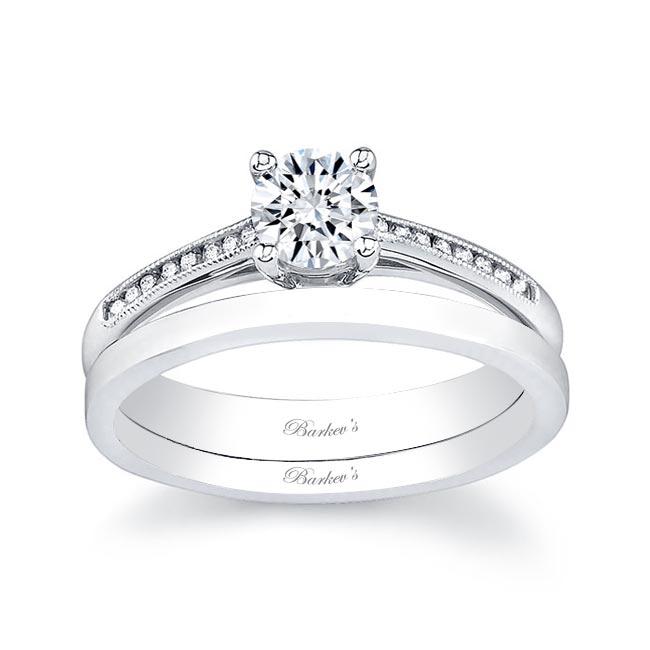 White gold diamond engagement ring set 7114S