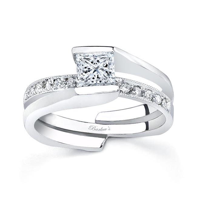 White gold diamond engagement ring set 7154S