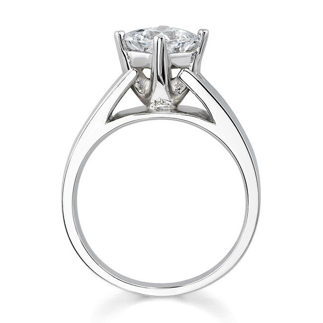 Princess Cut Moissanite Solitaire engagement Ring MOI-7156L Image 2