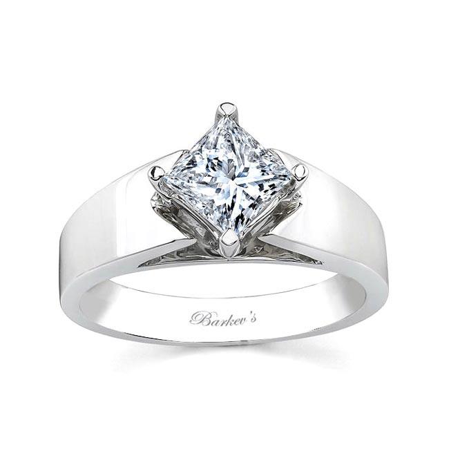 Princess Cut Moissanite Solitaire engagement Ring MOI-7156L Image 1