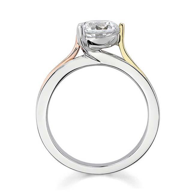 Tri Color Solitaire Ring 7161L Image 2