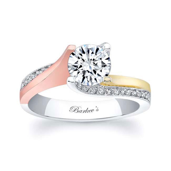Diamond and Moissanite Engagement Ring MOI-7171L