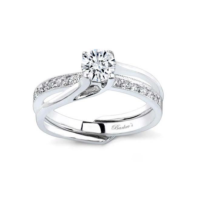 Moissanite and Diamond Bridal set MOI-7243S