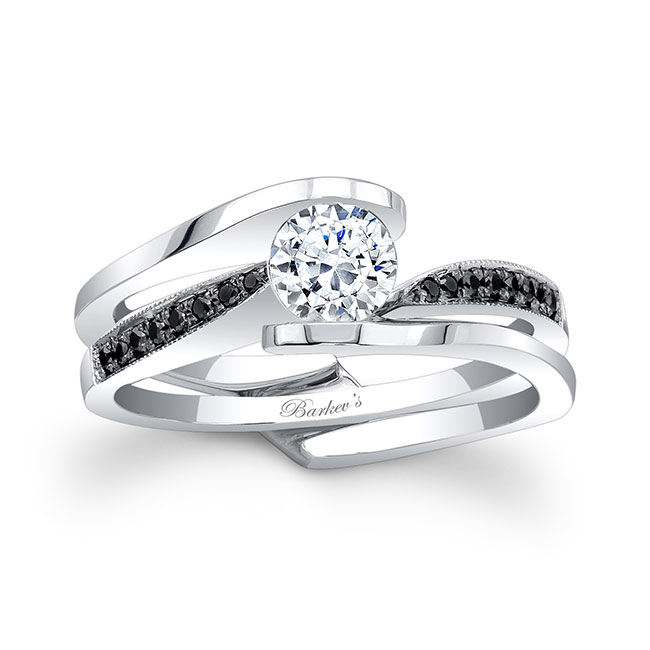Black Diamond Bridal Set 7327SBK Image 1