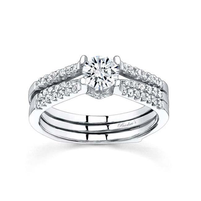 White gold diamond engagement ring set 7334S