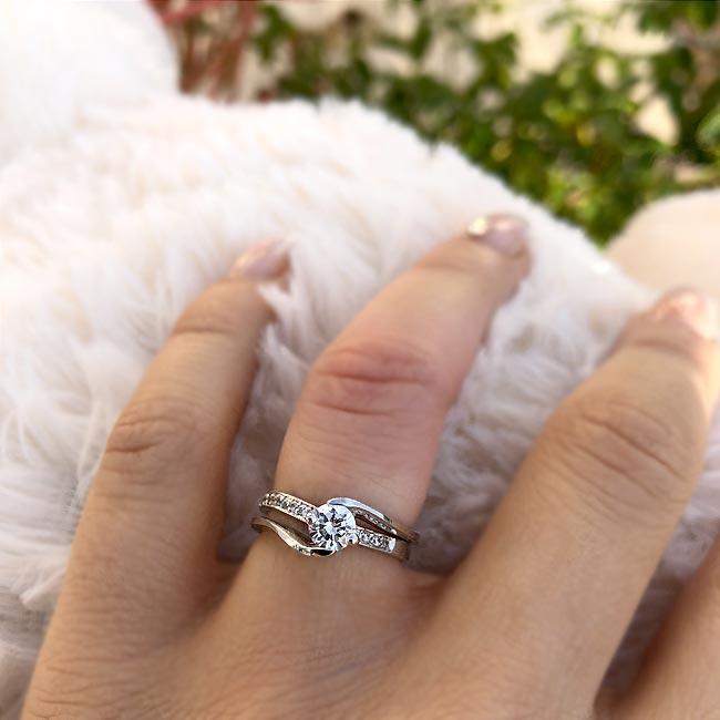 Diamond engagement ring set 7345S Image 3