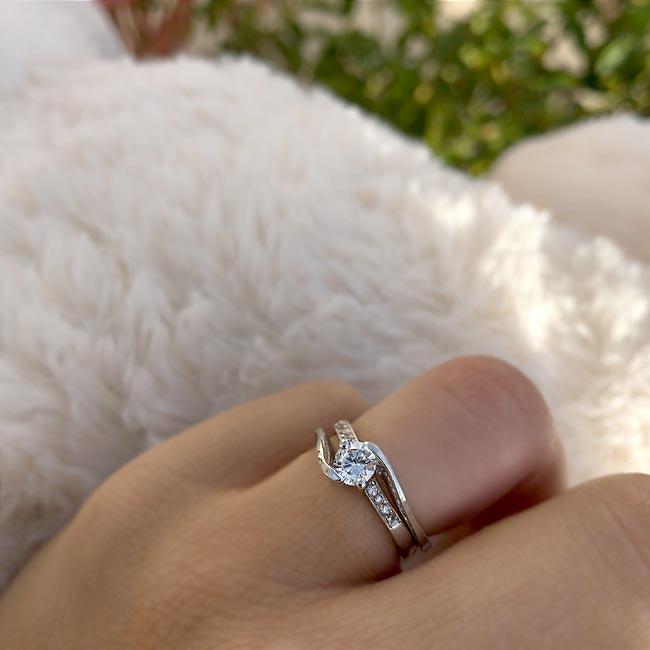 Diamond engagement ring set 7345S Image 4