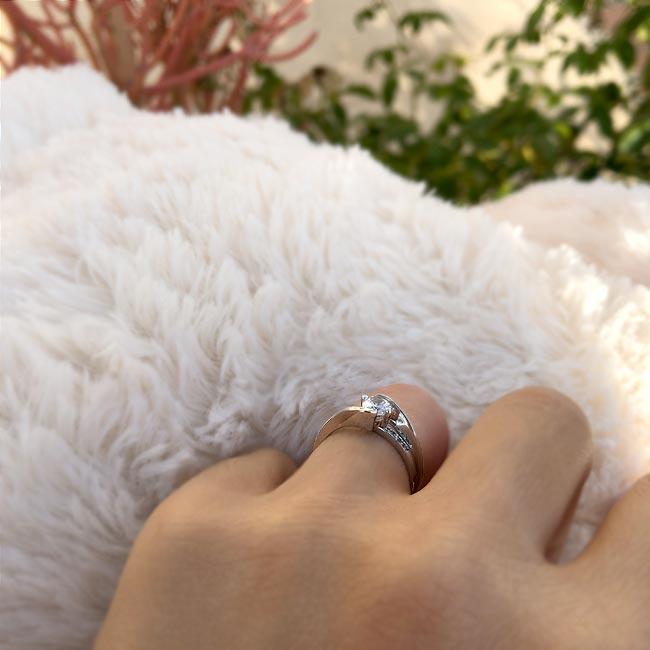 Diamond engagement ring set 7345S Image 5