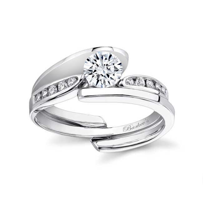 White gold diamond engagement ring set 7382S