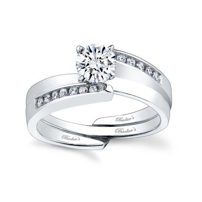 White gold diamond engagement ring set 7397S