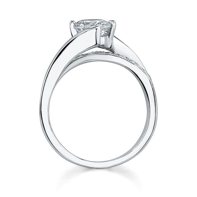 Moissanite White Gold Engagement Ring MOI-7399L Image 2
