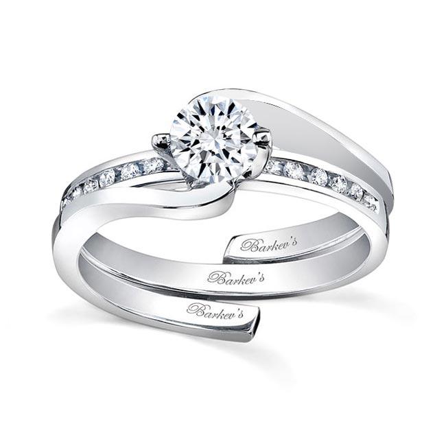 White gold diamond engagement ring set 7493S