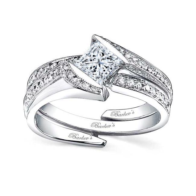 White gold diamond engagement ring set 7498S